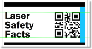 Position of QR code on big LSF label - sparse code 300w